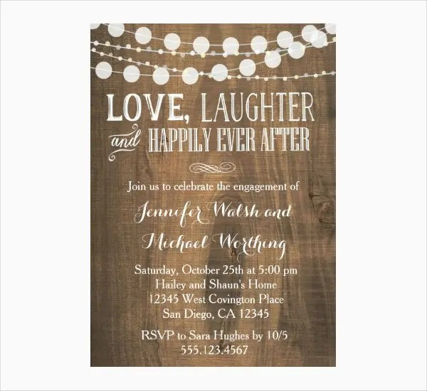 14+ Engagement Party Invitations - PSD, AI, Vector EPS Free