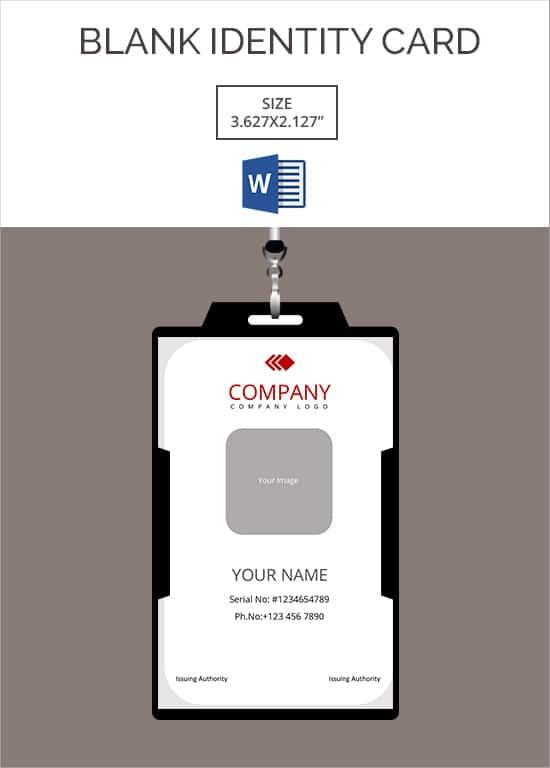 id card template free download word - Canasbergdorfbib