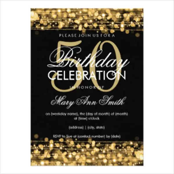 Birthday Invitation Templates in PDF Free  Premium Templates - free birthday invite template