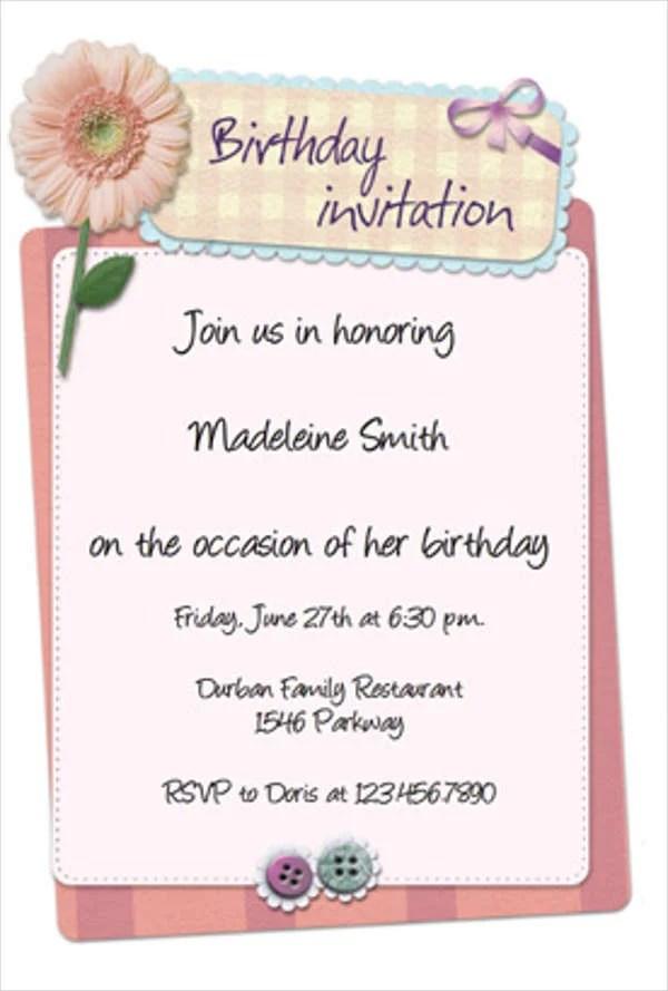 Birthday Invitation Templates in PDF Free \ Premium Templates - birthday invitation letter sample