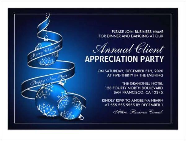 client appreciation event invitation wording