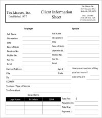 Client Information Sheet Template - 15+ Free Word, PDF ...