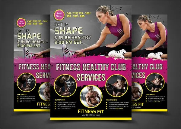 8+ Gym Fitness Flyers - Design Templates Free \ Premium Templates - fitness flyer
