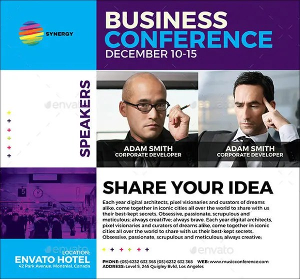 conference flyers examples - Onwebioinnovate - conference flyers templates free