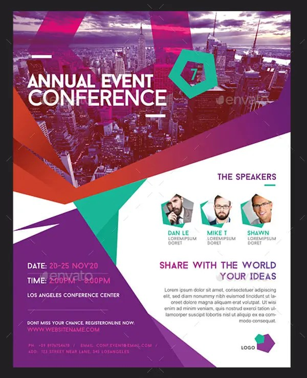 6+ Conference Event Flyers - Designs, Templates Free  Premium
