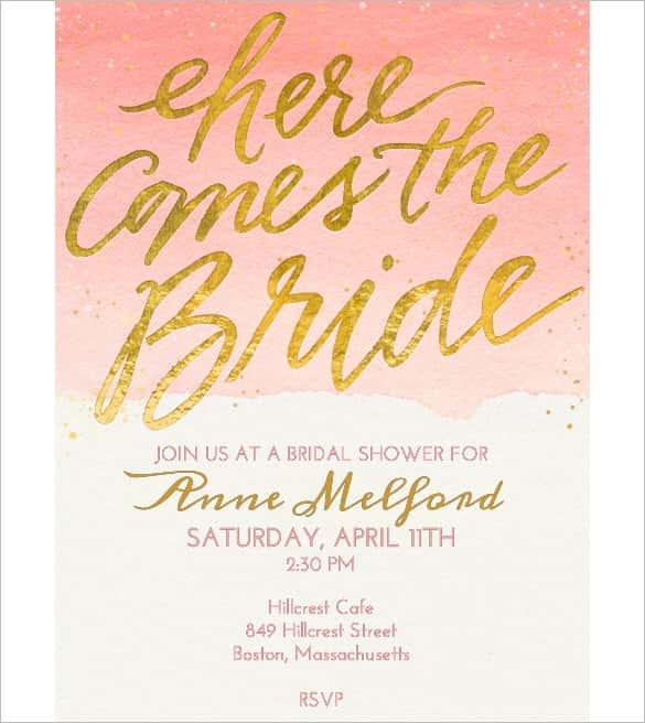 74+ Wedding Invitation Templates - PSD, AI Free  Premium Templates - bridal shower invitation templates download