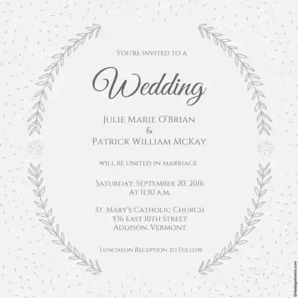 85+ Wedding Invitation Templates - PSD, AI Free  Premium Templates