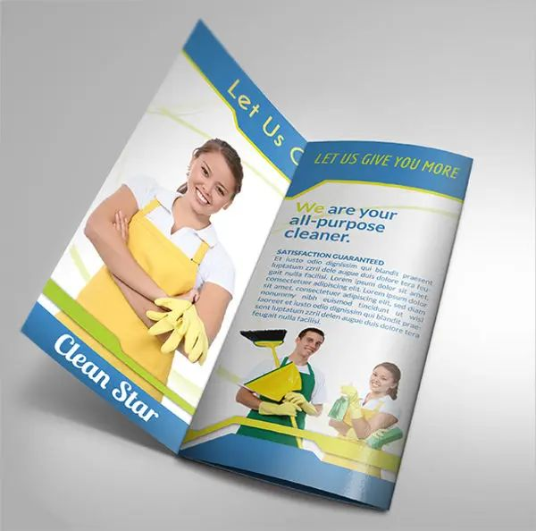 cleaning company brochure samples