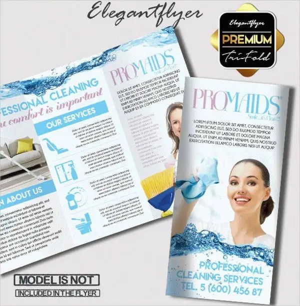 8+ Cleaning Company Brochures - Designs, Templates Free  Premium - cleaning brochure template