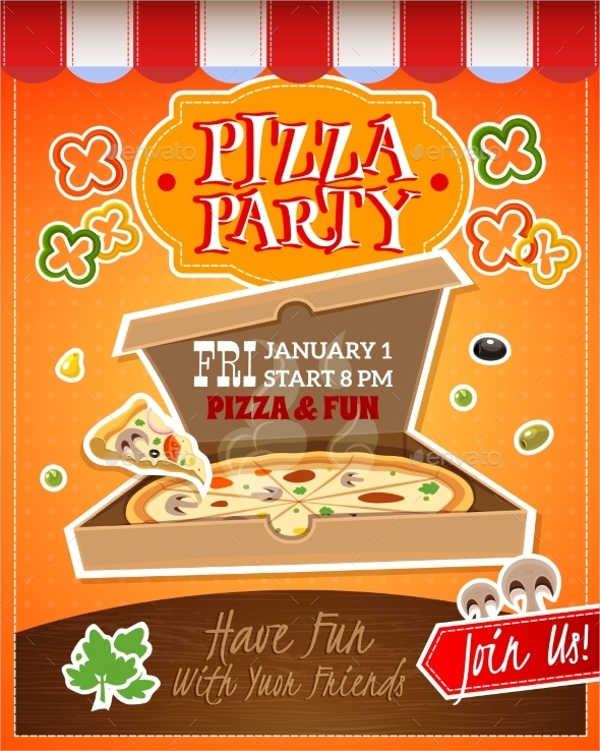 Pizza Party Flyers quantweb