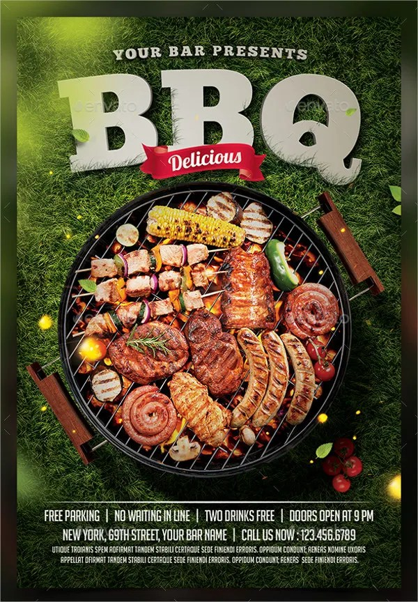 Bbq Flyer Barbecue By Elegantflyer Bbq Invitation Cool Flyer 20 - bbq flyer