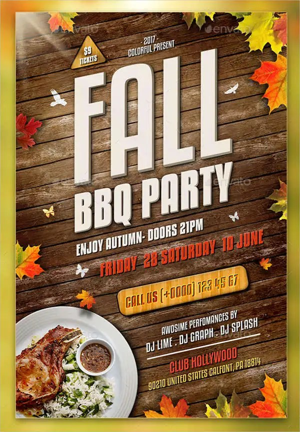 9+ BBQ Party Flyers - Designs, Templates Free \ Premium Templates - bbq flyer
