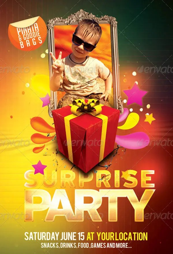 10+ Birthday Party Flyers - Design, Templates Free  Premium Templates