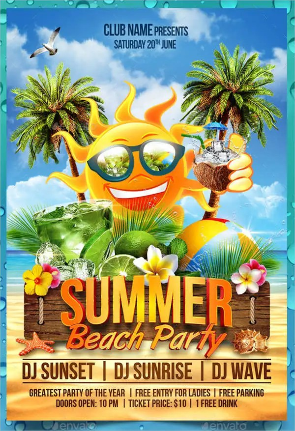 9+ Summer Party Flyers - PSD, EPS, PDF, InDesign, Vector File - summer flyer template