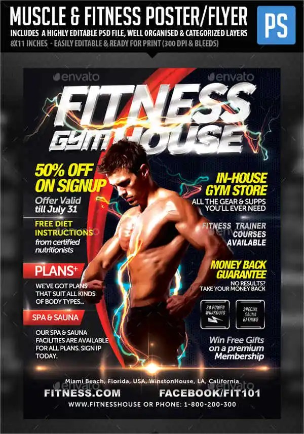 Fitness Flyer Template Fitness Flyer Template - Sports Events - fitness flyer