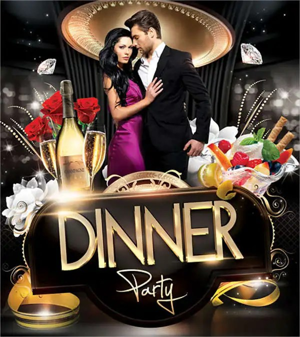 7+ Dinner Party Flyers - Design, Templates Free  Premium Templates - Dinner Flyer