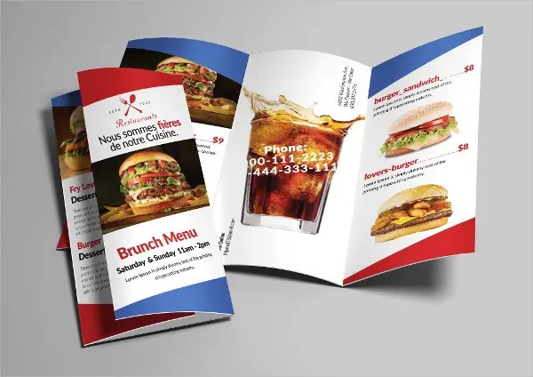 6+ Tri-fold Food Brochures - Design, Templates Free  Premium