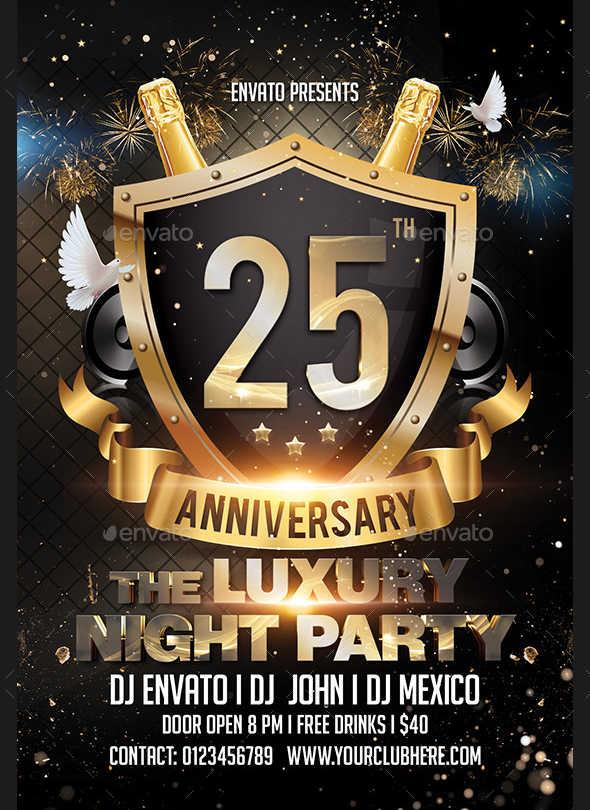7+ Anniversary Party Flyers - Design, Templates Free  Premium - anniversary flyer