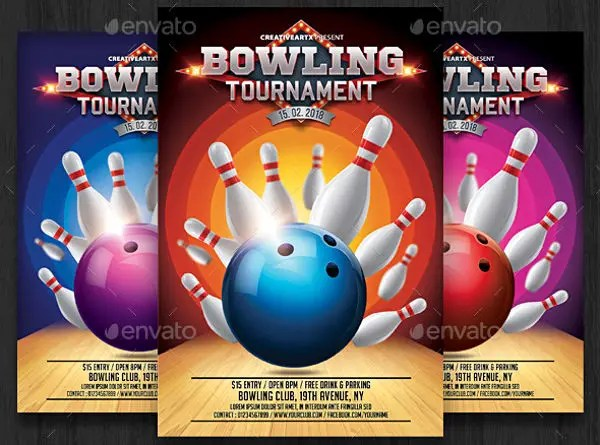 9+ Bowling Party Flyers - Design, Templates Free  Premium Templates