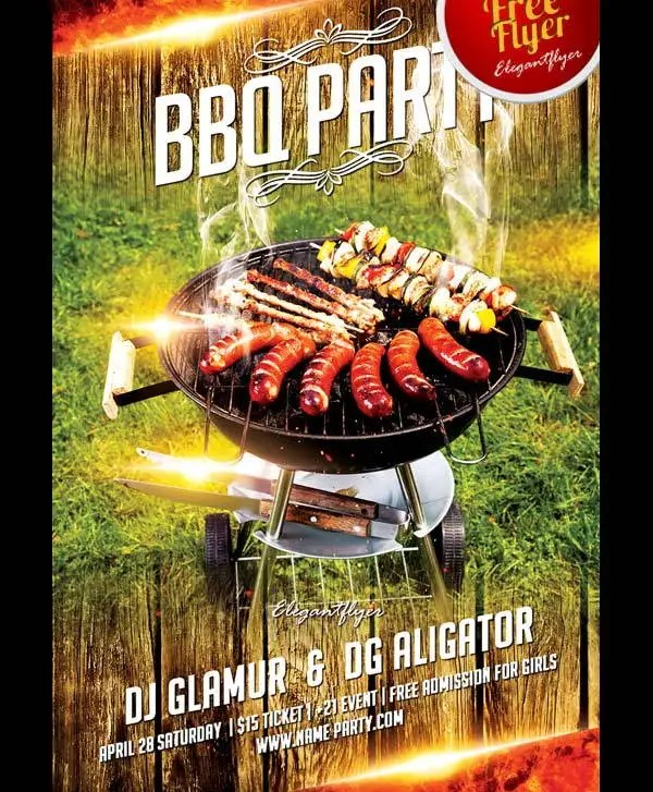 17+ BBQ Party Flyers - Word, PSD, Vector EPS, InDesign, PDF File