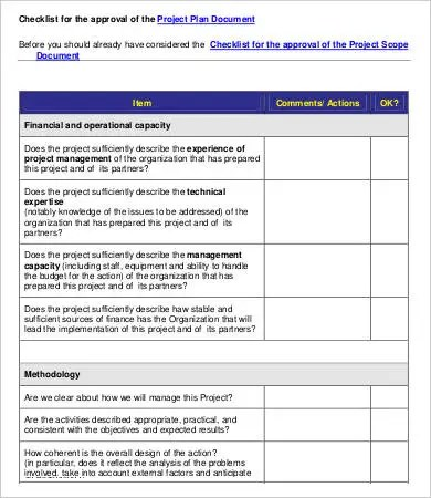 Project Evaluation Checklist Template - 7+ Free Word, PDF Documents