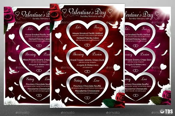 valentines day menu template - Roho4senses - valentines day menu template