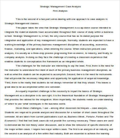 Case Analysis Templates - 7+ Free Word, PDF Format Download Free - Case Analysis