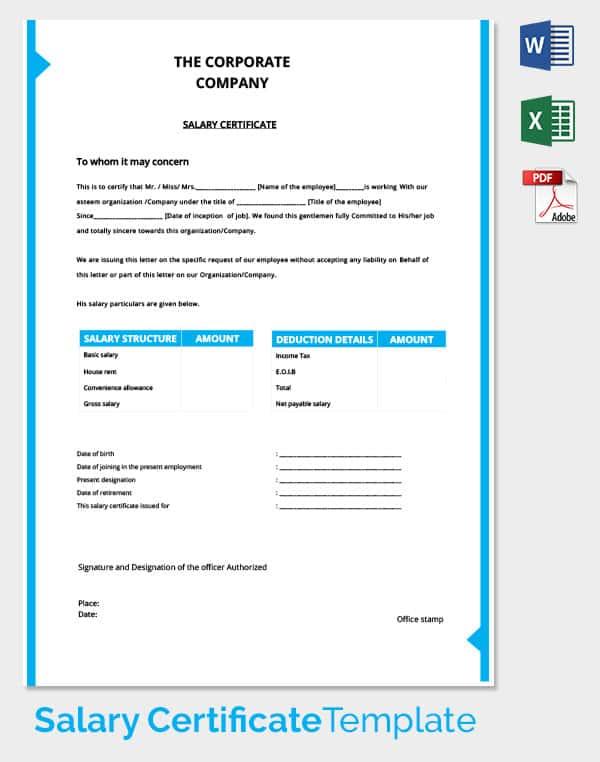 salary certificate example novaondafm