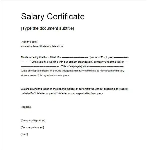 salary statement letter sample - Ozilalmanoof - statement form in doc