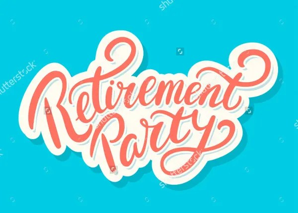 6+ Retirement Party Banner Designs  Templates - PSD, Vector EPS