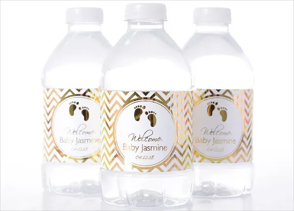 15+ Printable Bottle Label Templates - Design, Templates Free - Free Baby Shower Label Templates