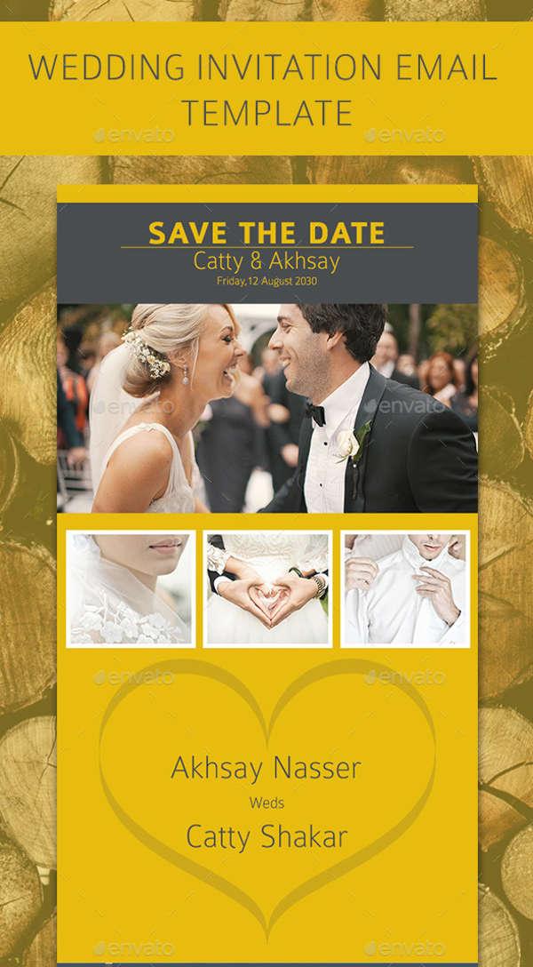 8+ Wedding E-mail Invitation Templates - PSD, AI, Word Free