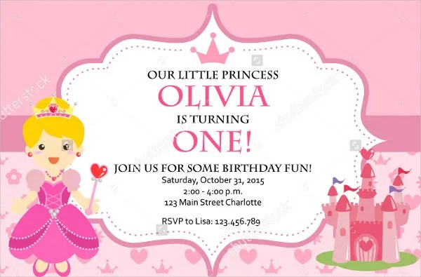 12+ Princess Party Invitations - JPG, PSD, AI, Word Free  Premium