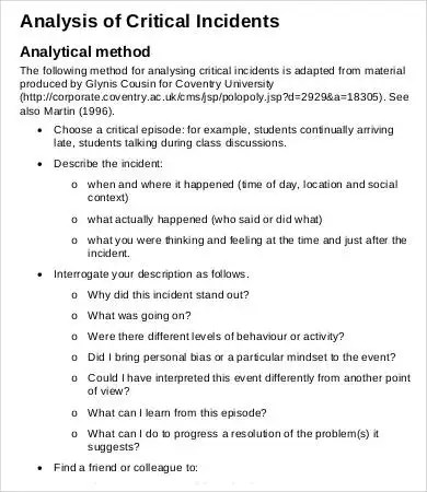 Critical Analysis Templates - 6+ Free Word, Excel, PDF Format - critical analysis