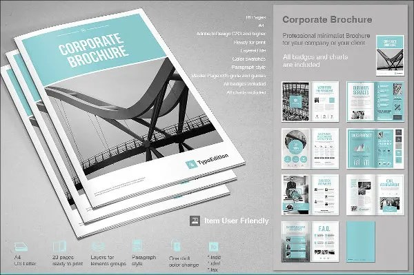 7+ Business Company Brochures - Design, Templates Free  Premium