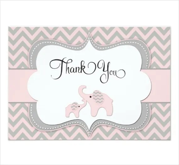8+ Baby Shower Thank You Cards - Design, Templates Free  Premium - baby shower thank you notes
