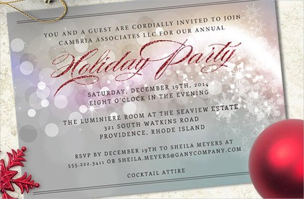 6+ Holiday Event Invitations - Designs, Templates Free  Premium
