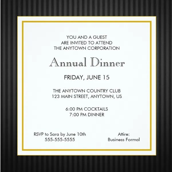 business dinner invitation template - Ozilalmanoof - business dinner invitation sample