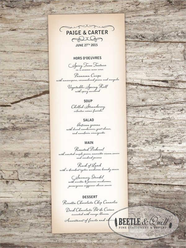 9+ Cocktail Party Menu - Designs, Templates Free  Premium Templates - party menu template
