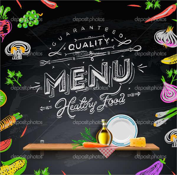 8+ Chalkboard Restaurant Menu - Designs, Templates Free  Premium