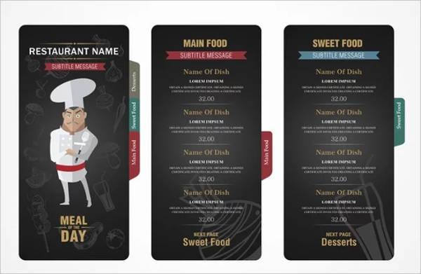 9+ Small Restaurant Menu - Designs, Templates Free  Premium Templates