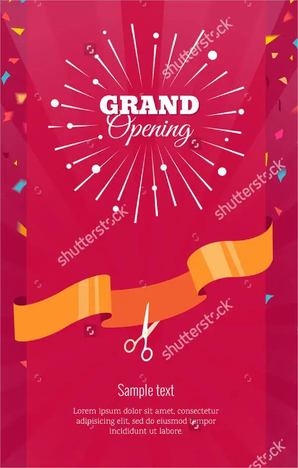 11+ Grand Opening Invitation Banners - PSD, AI, Word, Pages Free