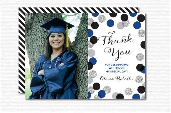 7+ Graduation Thank-You Cards - Design, Templates Free  Premium - thank you for graduation