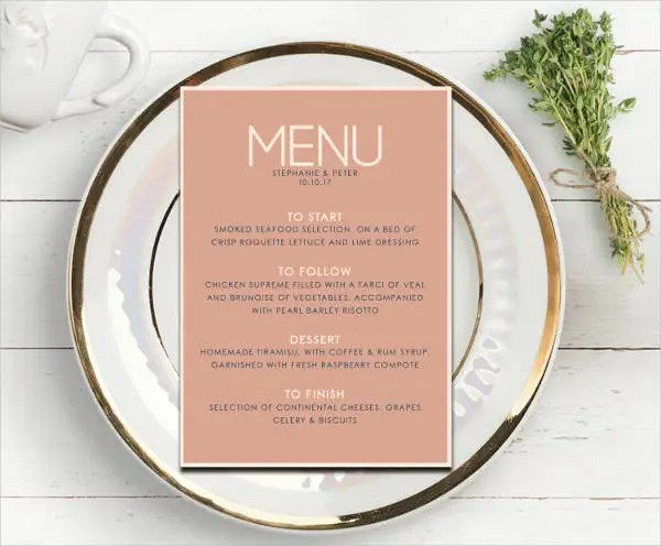7+ House Party Menu Templates - Designs, Templates Free  Premium