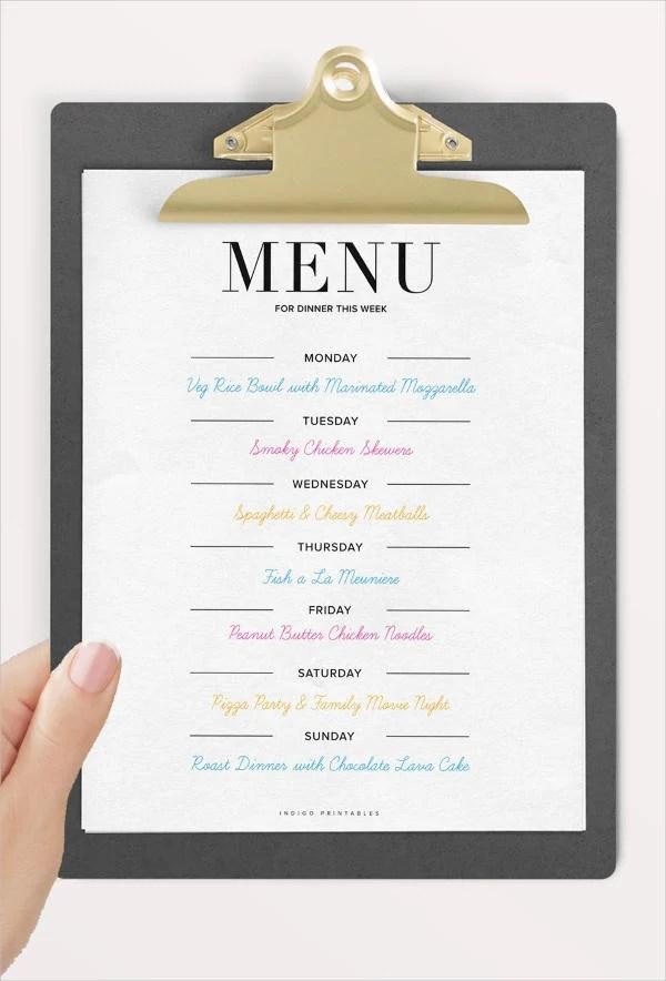 9+ Dinner Party Menu Templates - Design, Templates Free  Premium - party menu template
