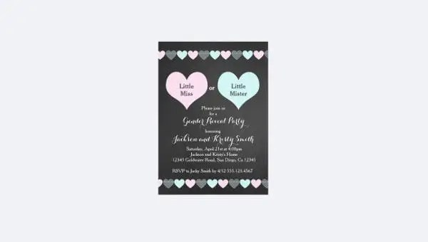 12+ Gender Reveal Party Invitation Designs  Templates - PSD, AI