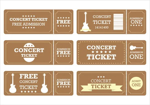 Ticket Template Printable Raffle Ticket Templates Free Editable - concert ticket template free download