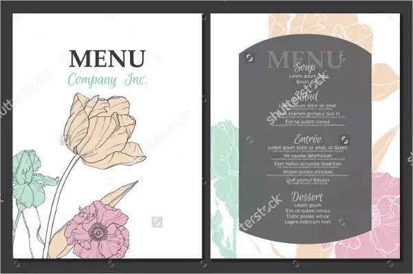 9+ Garden Party Menu - Designs, Templates Free  Premium Templates - party menu template