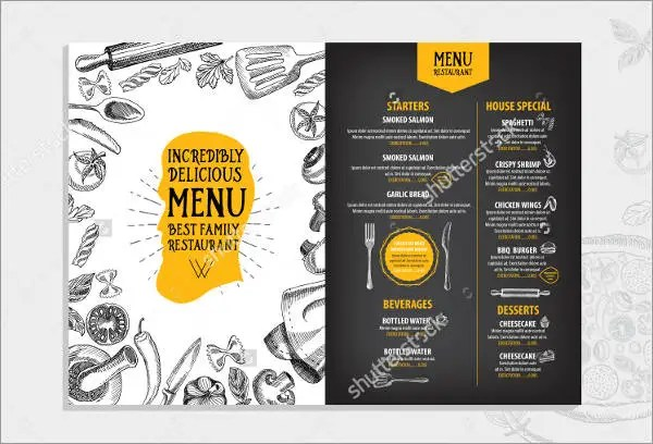 7+ Lunch Party Menu - Designs, Templates Free \ Premium Templates - menu design template