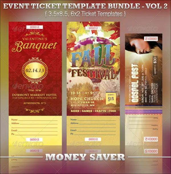 ticket template word free